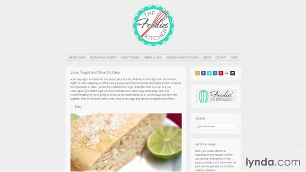 Welcome: Start with a Theme: Food Blogs in WordPress
