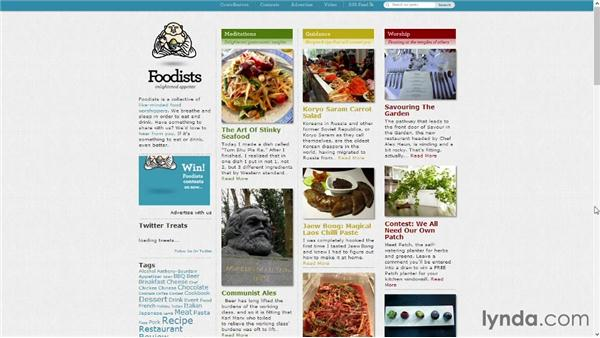 Food blogs in the wild: Start with a Theme: Food Blogs in WordPress