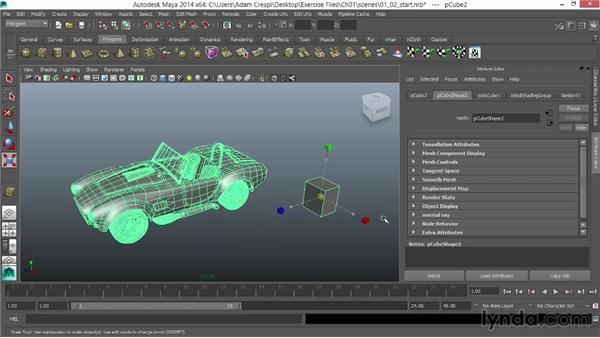 Scaling a model uniformly: Vehicle Rigging in Maya