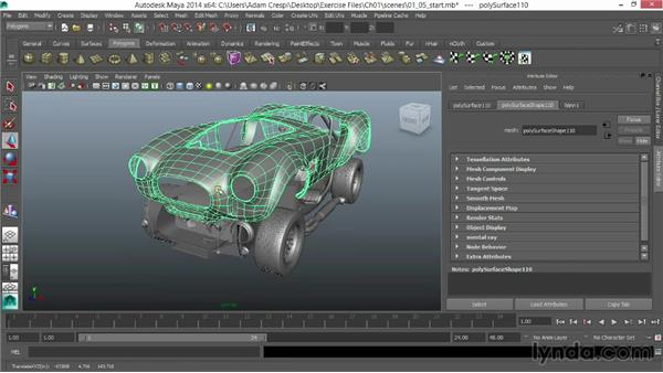 Checking the model for geometry problems: Vehicle Rigging in Maya