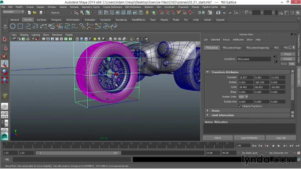 Overview of wheel organization: Vehicle Rigging in Maya
