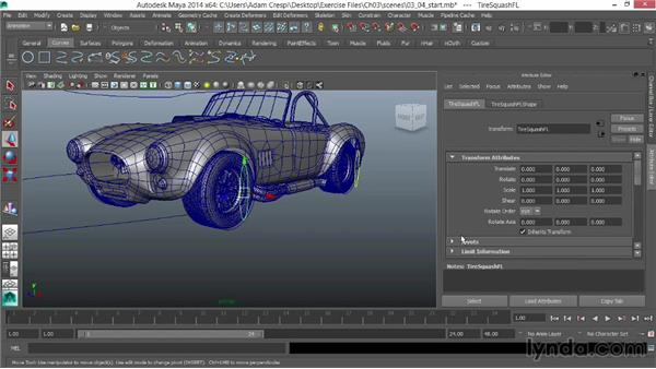 Adding tire deformation controls: Vehicle Rigging in Maya