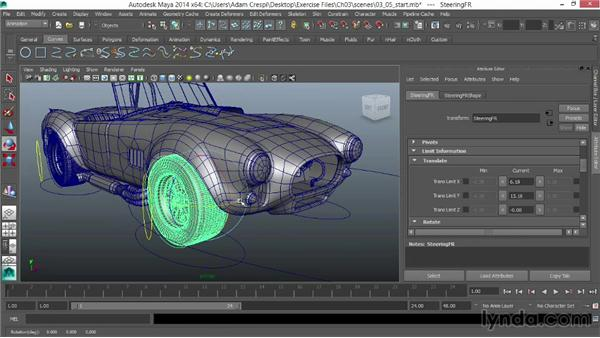 Parenting and constraining the suspension: Vehicle Rigging in Maya