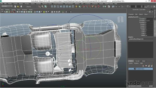 Parenting the body: Vehicle Rigging in Maya