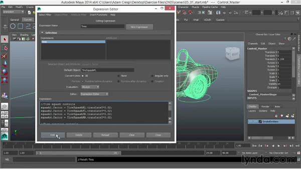 Custom attributes for overspin on the drive wheels: Vehicle Rigging in Maya