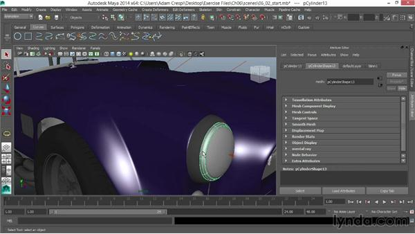 Creating chrome, rubber, and glass: Vehicle Rigging in Maya