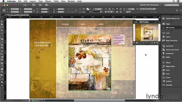 Previewing interactive PDFs: InDesign Insider Training: Interactive PDFs