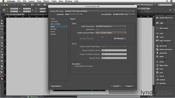 Exporting interactive PDFs from InDesign