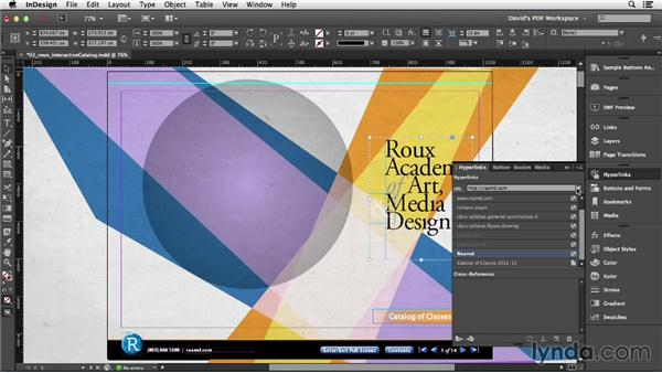 Setting and editing hyperlink destinations: InDesign Insider Training: Interactive PDFs