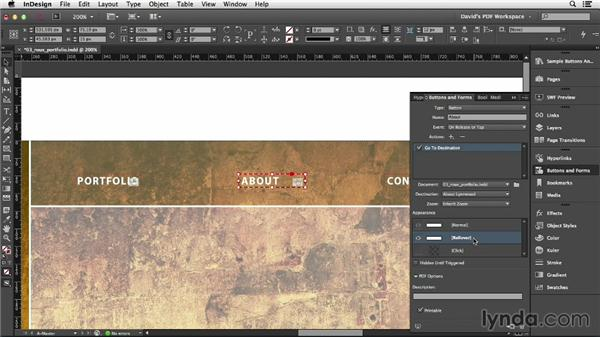 Navigation buttons: InDesign Insider Training: Interactive PDFs