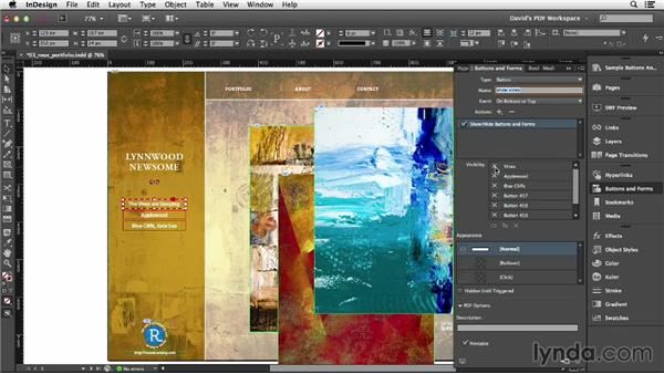 Setting rollover states: InDesign Insider Training: Interactive PDFs