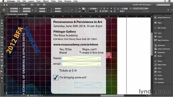 Check boxes and radio buttons: InDesign Insider Training: Interactive PDFs