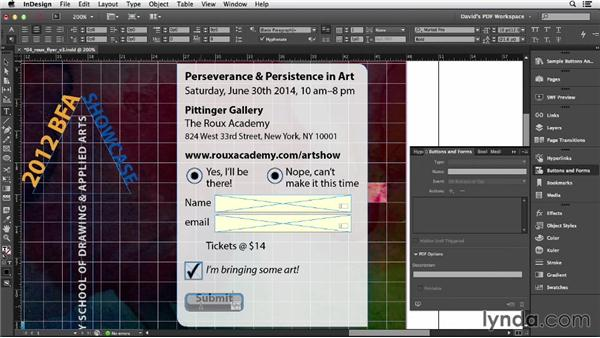 Print, submit, and signature buttons: InDesign Insider Training: Interactive PDFs