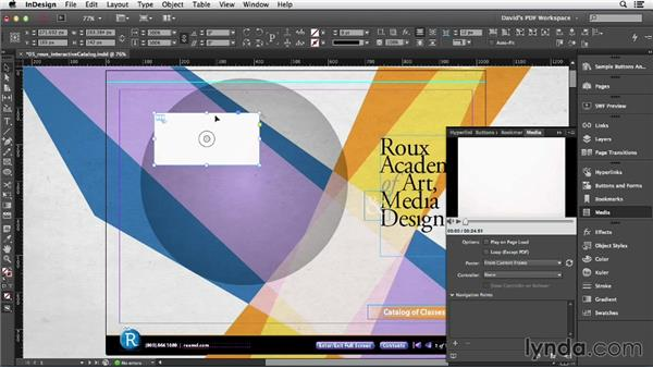 Linking to video on a web server: InDesign Insider Training: Interactive PDFs