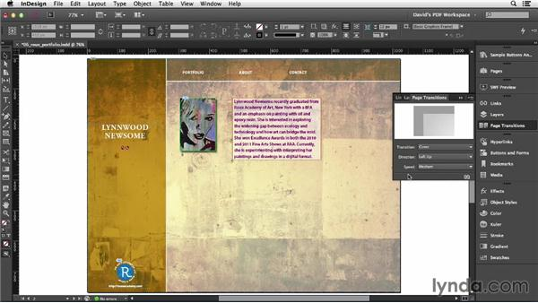 Adding page transitions: InDesign Insider Training: Interactive PDFs