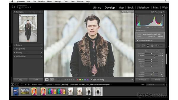 Soft proofing to add visual snap: Lightroom 5 Essentials: 05 Creating Prints and Books