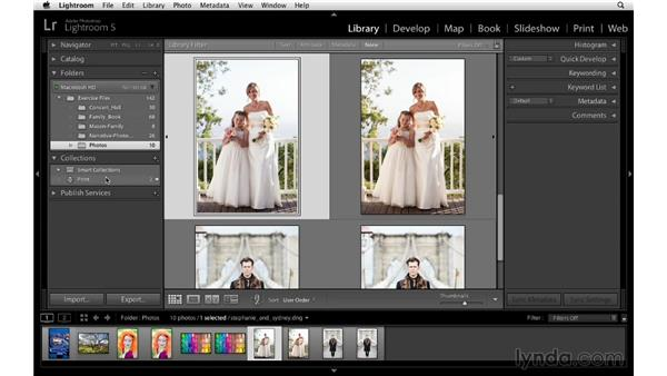 Making print collections: Lightroom 5 Essentials: 05 Creating Prints and Books