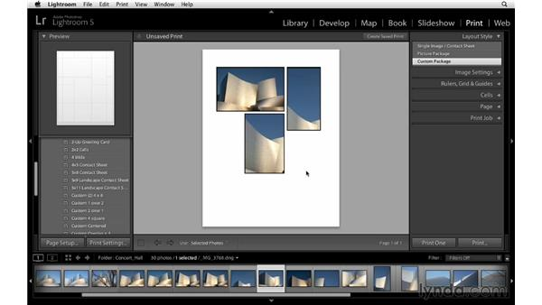 Using print templates: Lightroom 5 Essentials: 05 Creating Prints and Books