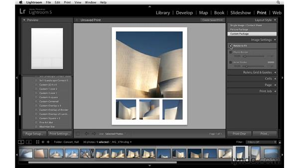 Using custom layout styles: Lightroom 5 Essentials: 05 Creating Prints and Books