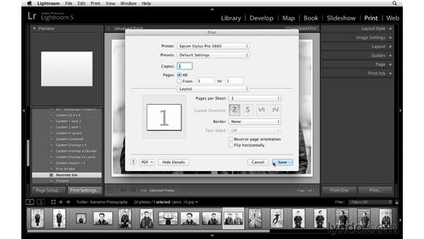 Configuring page setup and print settings: Lightroom 5 Essentials: 05 Creating Prints and Books