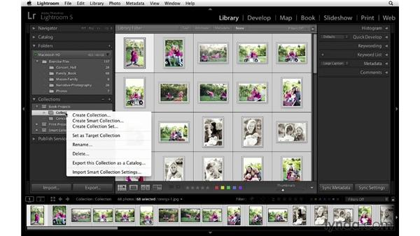 Creating collections for your book project: Lightroom 5 Essentials: 05 Creating Prints and Books
