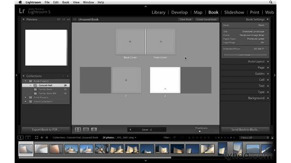 Choosing book settings and preferences: Lightroom 5 Essentials: 05 Creating Prints and Books
