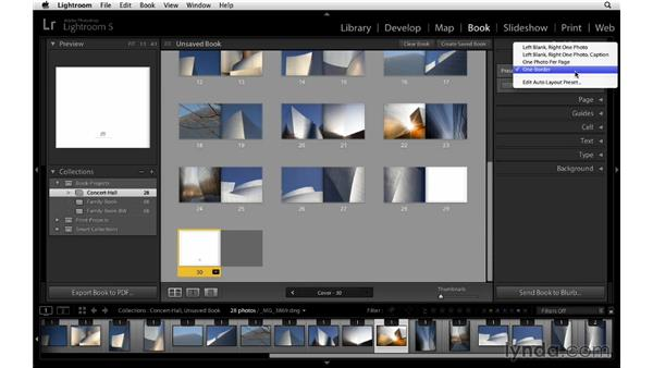 Editing Auto Layout presets: Lightroom 5 Essentials: 05 Creating Prints and Books