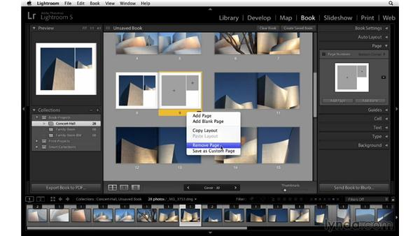 Customizing the page layout: Lightroom 5 Essentials: 05 Creating Prints and Books