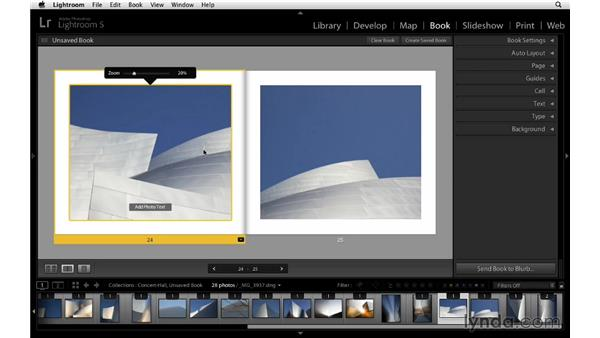 Changing individual images and the page sequence: Lightroom 5 Essentials: 05 Creating Prints and Books