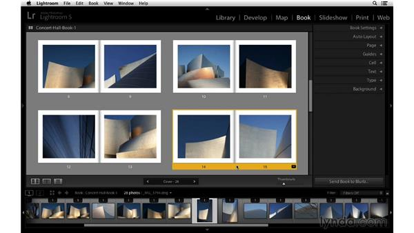 Changing the page spread sequence: Lightroom 5 Essentials: 05 Creating Prints and Books