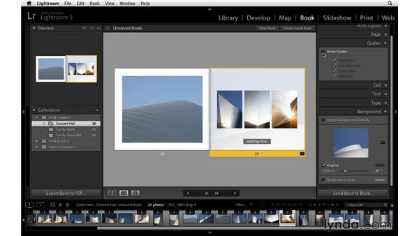 Changing the background: Lightroom 5 Essentials: 05 Creating Prints and Books