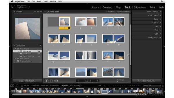 Saving your book layout: Lightroom 5 Essentials: 05 Creating Prints and Books