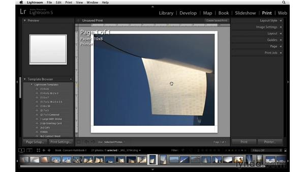 Using the Print module to design a layout: Lightroom 5 Essentials: 05 Creating Prints and Books