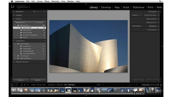 Including the custom layout in your project: Lightroom 5 Essentials: 05 Creating Prints and Books