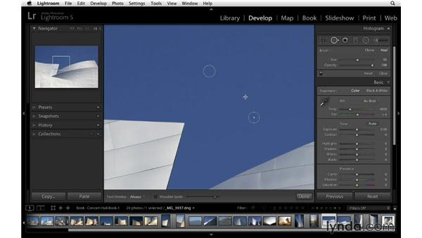 Making specific adjustments: Lightroom 5 Essentials: 05 Creating Prints and Books