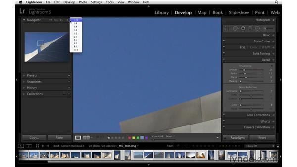 Applying global adjustments to all your photographs: Lightroom 5 Essentials: 05 Creating Prints and Books