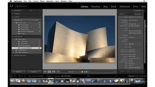 Adding captions: Lightroom 5 Essentials: 05 Creating Prints and Books