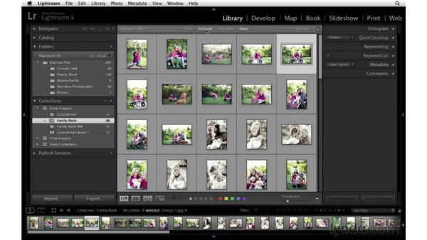 Selecting the keepers: Lightroom 5 Essentials: 05 Creating Prints and Books
