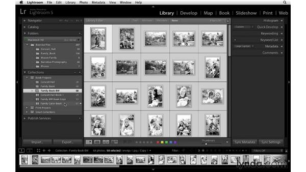 Duplicating the book design: Lightroom 5 Essentials: 05 Creating Prints and Books