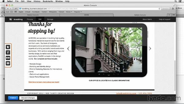 Enabling and using content management (New): Designing a Portfolio Website with Muse