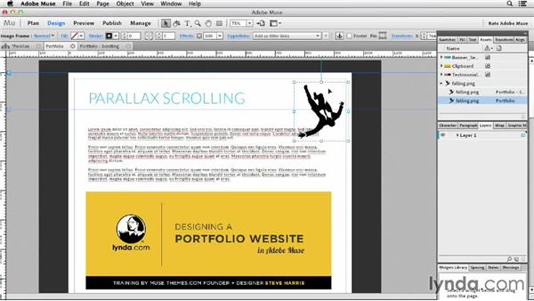 Working with Parallax Scrolling (New): Designing a Portfolio Website with Muse