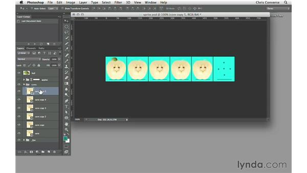 Using Smart Objects to create frame artwork: Design the Web: Sprite Sheets