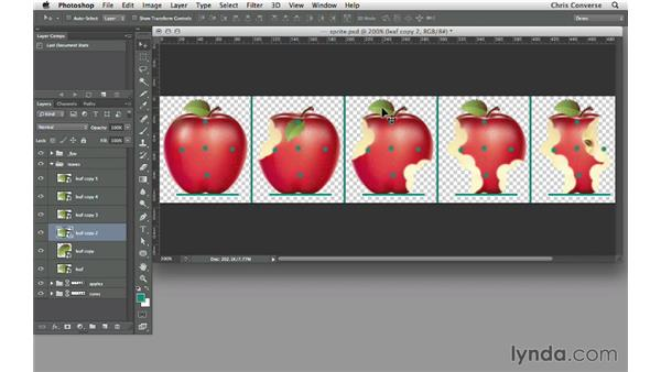 Simulating the leaf falling: Design the Web: Sprite Sheets