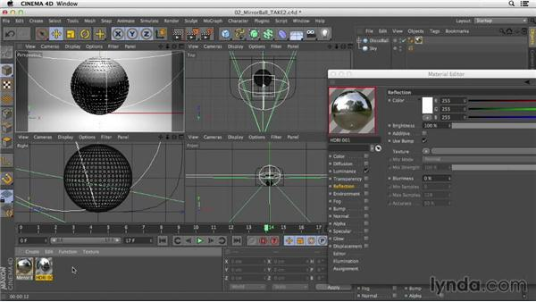 Creating a mirror ball with the Reflection channel: Creating Materials in CINEMA 4D