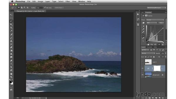 Applying adjustment layers: Digital Matte Painting Essentials 1: Concept