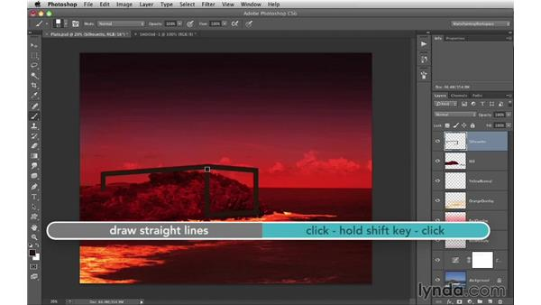 Silhouette: Rectangular forms: Digital Matte Painting Essentials 1: Concept