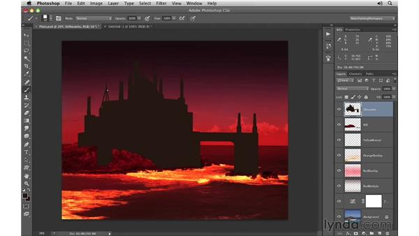 Silhouette: Domes and towers: Digital Matte Painting Essentials 1: Concept