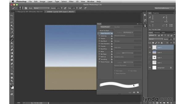 Creating a cloud custom brush: Digital Matte Painting Essentials 1: Concept