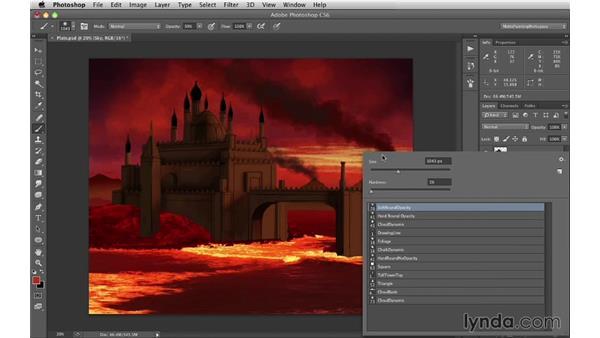 Adding volcano smoke: Digital Matte Painting Essentials 1: Concept