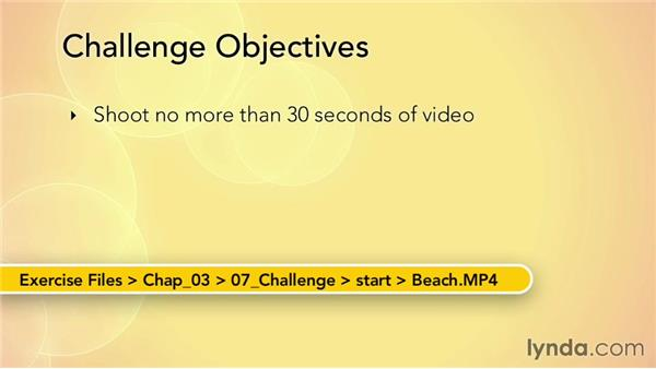 Challenge: Shooting and encoding HTML5 video: Up and Running with HTML5 Video